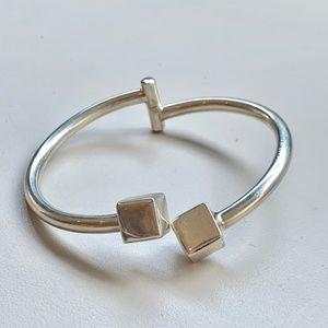 DND Sterling Silver Cube Cuff Bracelet